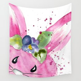 Easter Bunny Peek A Boo Wall Tapestry
