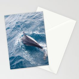 Dolphin in the ocean Stationery Cards