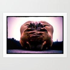 Yoga Asana Paschimottanasana B Art Print