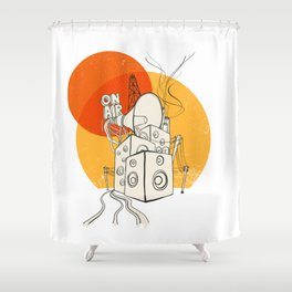 Radio Satla Shower Curtain