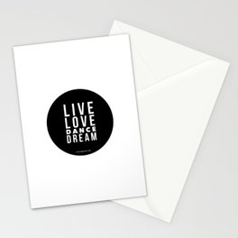 Live Love Dance Dream Stationery Cards