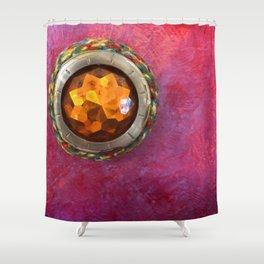 Hidden Tin Shower Curtain
