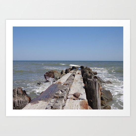 The Edge Of The Ocean Art Print