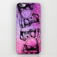 sneakers iPhone & iPod Skins featuring Violet Sneakers by ladyberula