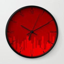 City Redscape Wall Clock