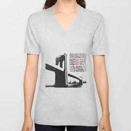 New York Brooklyn Bridge Unisex V-Neck