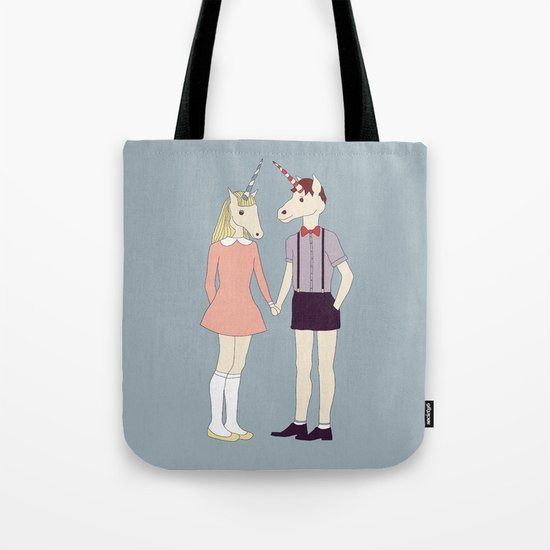 Our love is unique, we are Unicorns (text version) Tote Bag