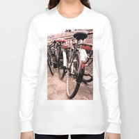 bikes Long Sleeve T-shirts featuring Amsterdam Bikes by Ann Yoo