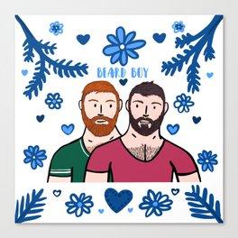 Beard Boy: Couple of Men - Karl & Daan Canvas Print