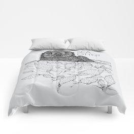 Sea Otter Sketch Comforters