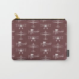 Biplanes // Tosca Red Carry-All Pouch