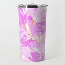Bird of Paradise, Cosmos and African Daisy-Pink Travel Mug