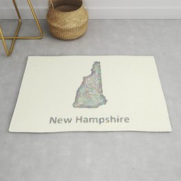 New Hampshire map Rug