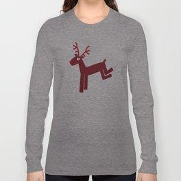 Reindeer-Red Long Sleeve T-shirt