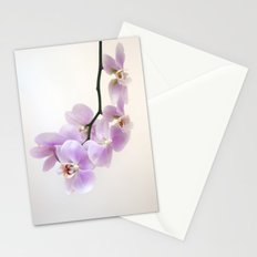 pink orchid Stationery Cards