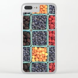 Berries At Market Clear iPhone Case
