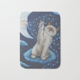 The cat the Moon and the Stars Tale Bath Mat