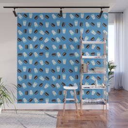 Oreo and milk pattern Wall Mural