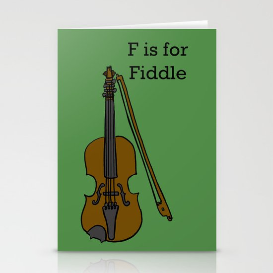 Fiddle, Typed Stationery Cards