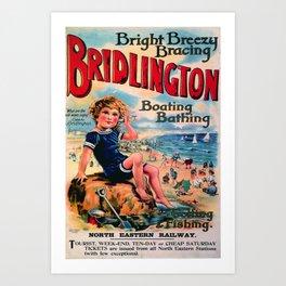 Nostalgie Bridlington Art Print