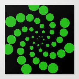 green fat spiral Canvas Print