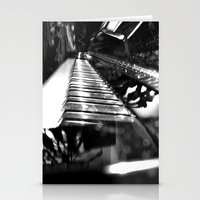 piano Stationery Cards featuring Piano by Claire Filz