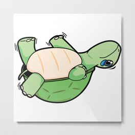 Little Turtle Down! Help Him! Metal Print