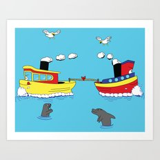 TUG BOAT OF WAR Art Print