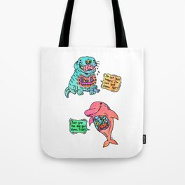 Smiley Animals Tote Bag
