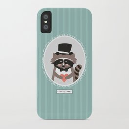 Racoon Heart Robber  iPhone Case
