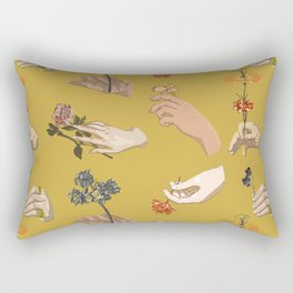 Hands in Art History Rectangular Pillow