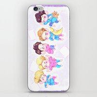 shinee iPhone & iPod Skins featuring SHINee Sleepover by sophillustration