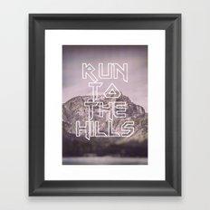 Run To The Hills Framed Art Print