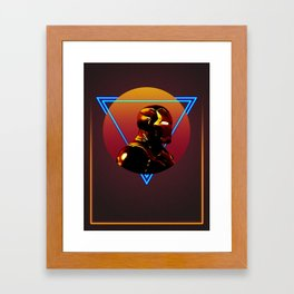Iron Man 80's Alternative Character Poster Framed Art Print