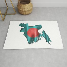 Flag Of Bangladesh Distressed Rug