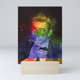 Sean Connery retro art Mini Art Print
