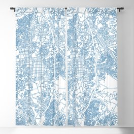 Street MAP Madrid // Blue Blackout Curtain