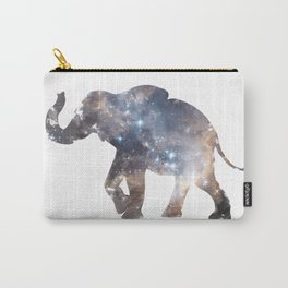 Watercolor Space Elephant Carry-All Pouch