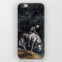 Skeleton Riding a Pale Horse iPhone Skin