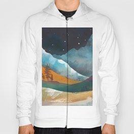 An otline of the snowy mountainside under the starlight Hoody