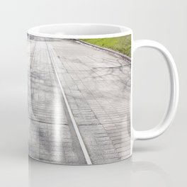 Streetcar Tracks Still Visible On Residental Street Coffee Mug