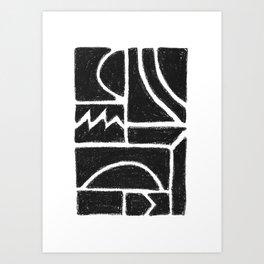 Charcoal Pattern Art Print