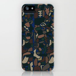camo shapes iPhone Case