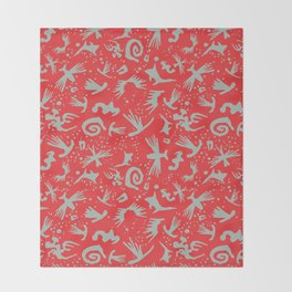 Moonchild Tribal	Cayenne Red Throw Blanket