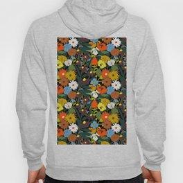 60's Swamp Floral in Midnight Black Hoody