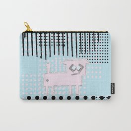 ODD MIKEY Stuff - Blue and Dots Carry-All Pouch