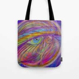 Guardian Angel with Feather Tote Bag