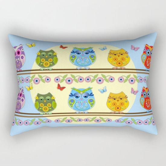 Chilling Summer owls Rectangular Pillow