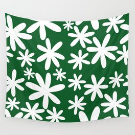 Tiare Flower Green Wall Tapestry