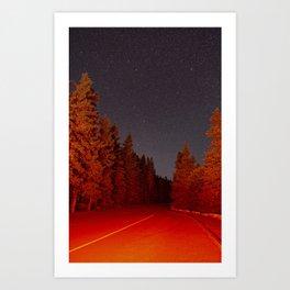 016 - Brake Light Stargazing Art Print